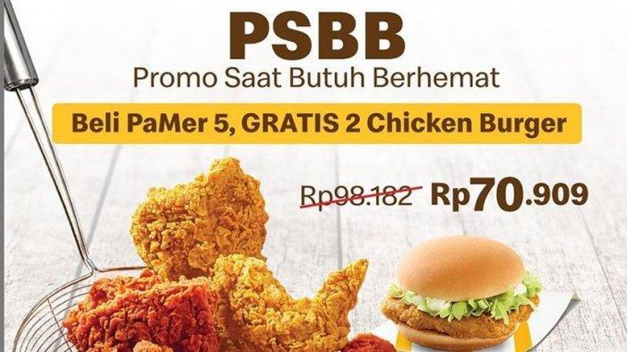 Promo McD Hari Ini 28 November 2020 Beli PaMer 5 GRATIS 2 Chicken Burger Harga Mulai Rp 70.909