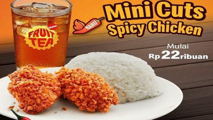 Promo McDonald's Hari Ini 24 Februari 2 potong Mini Cuts Spicy Chicken+nasi+Lemon Tea Rp 22 ribuan