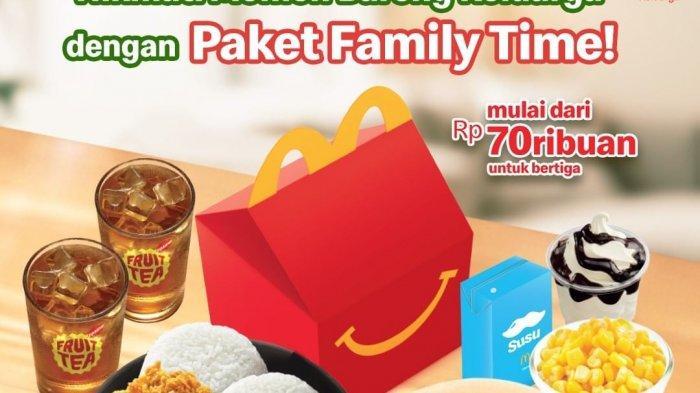 Promo McDonalds Terbaru Kamis 10 Juni 2021, Paket Family Time Untuk Berempat Mulai Rp 70ribuan