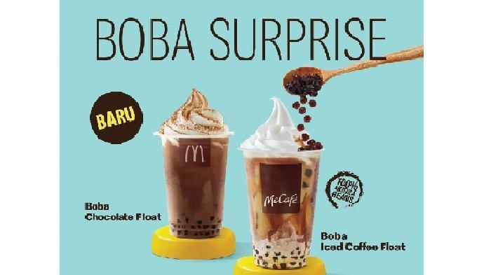 Promo McDonalds Rabu 28 April 2021,Promo Gratis Takjil S-Tee, McD Boba Iced Coffee & Chocolate Float