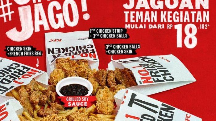 Promo KFC Besok Rabu 7 April 2021: Cemilan Jago KFC Mulai Rp 18 Ribuan dan Promo Colonel Rice Fest