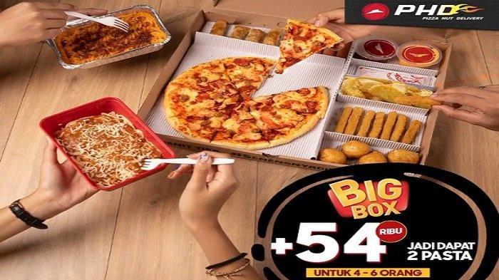 Pizza Hut PHD Hari Ini Hingga Besok 26 April My Box Hitss Rp 109 Ribu Gratis 3 Minuman, Gratis Antar