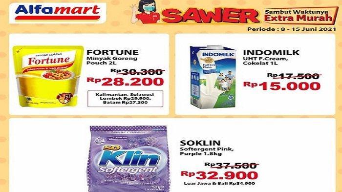 Promo Sawer Alfamart Hadir Lagi Jumat 11 Juni 2021, Minyak Fortune Rp 28.200, SoKlin Rp 32.900