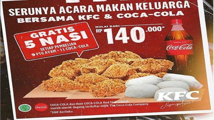 Promo Terbaru KFC MInggu 20 Juni 2021 Original Movie Combo : Nasi Half Winger CocaCola Rp16 Ribuan