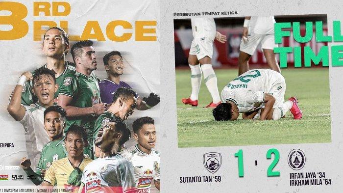 PSS Sleman Akhirnya Raih Peringkat Tiga Piala Menpora 2021, Kalahkan PSM Makassar 2-1