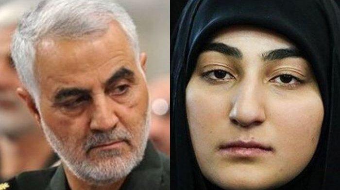 Qassem Soleimani Dirudal AS, Kini Putrinya Pimpin Pasukan Khusus Iran,Misi Pertama Perangi Israel!