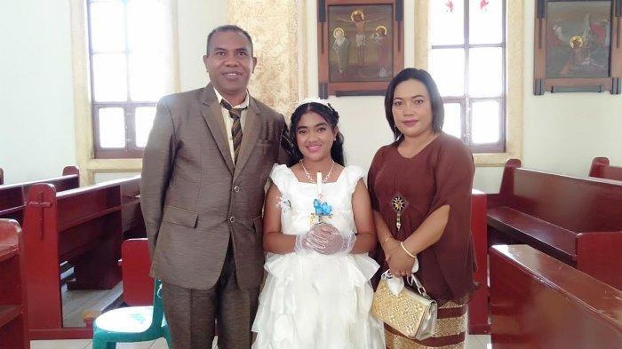 Terima Komuni Suci Pertama di Gereja MBC Bajawa, Rafela Eleonora Mengaku Senang