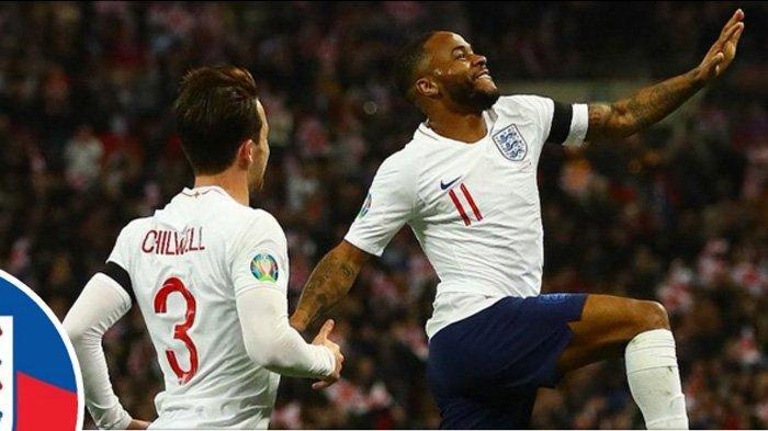 Kualifikasi Piala Eropa 2020 - Inggris Cukur Ceko 5-0, Raheem Sterling Cetak Hat-trick