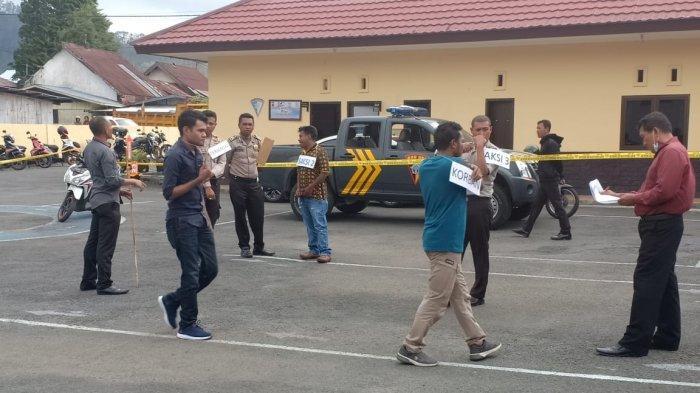 Polres Ngada Gelar Rekonstruksi Penembakan di Mauponggo Nagekeo, Ini Jumlah Adegannya!