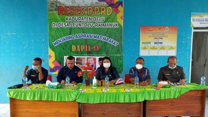 Anggota DPRD Dapil IV Belu Jaring Aspirasi Masyarakat Raimanuk