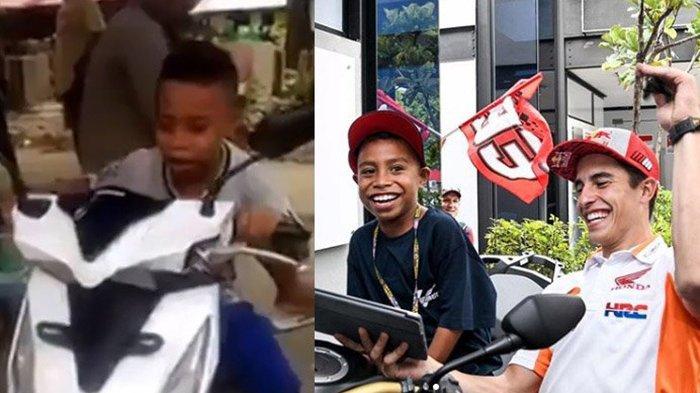 VIDEO VIRAL : Ketemu Marc Marquez Bocah Komentator MotoGP Nangis Lihat Rossi Jatuh