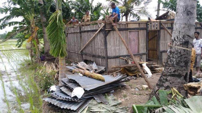 Tiga Rumah di Desa Mata Air Kabupaten Kupang Rusak Berat Dihantam Angin Puting Beliung