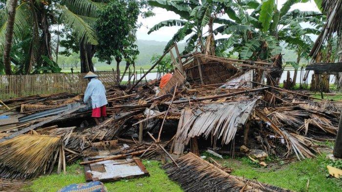Angin Kecang Porak Porandakan Rumah Usman Aha di Sambi Rampas-Manggarai Timur, Begini Kondisinya
