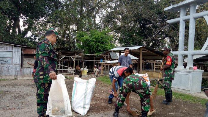 Ini yang Dilakukan Anggota TNI dan Pelajar terkait Sampah di Boawae
