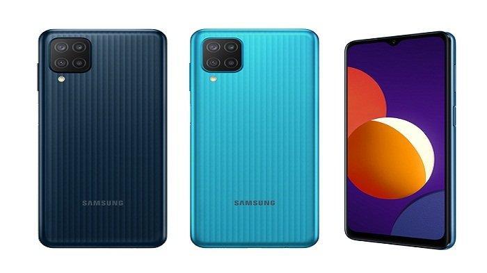 HP Samsung Galaxy M12 Ponsel Mewah Harga Rp 1 Jutaan,Promo Lebih Murah Rp 100 Ribu, 4 Kamera Utama