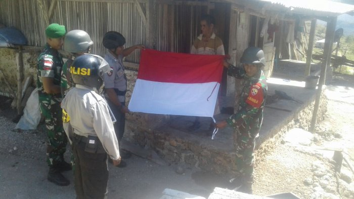 Ini yang Dilakukan TNI-Polri bagi Warga Perbatasan Menyosong HUT Kemerdekaan RI