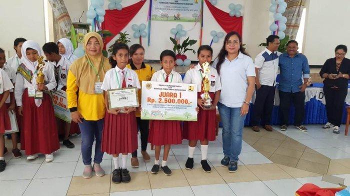SD Bertingkat Oebobo Juara Lomba Lingkungan Sekolah Hijau Diselenggarakan Dinas PRKP Kota Kupang