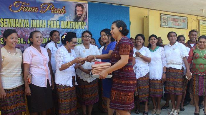 Acara Perpisahan Siswa Kelas VI SDK Arnoldus Penfui Kupang Berlangsung Meriah, Didahului Misa Kudus