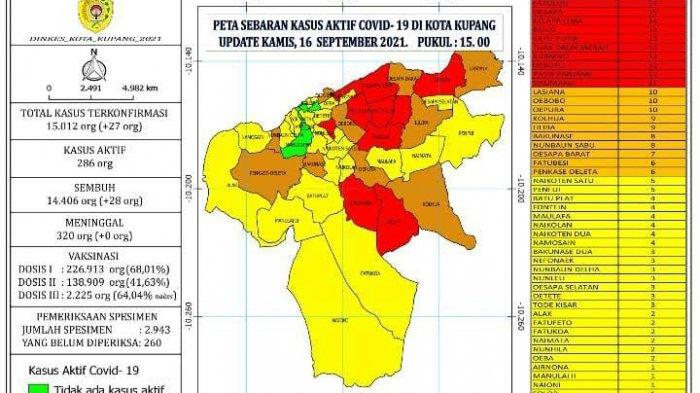 25 Kelurahan di Kota Kupang Zona Kuning Sebaran Kasus Covid-19
