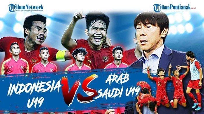 BERLANGSUNG Link Live Streaming Timnas U19 Indonesia vs Arab Saudi, Skor Indonesia Vs Arab Saudi?