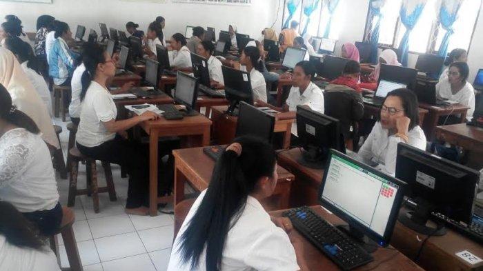 Guru PAUD dan TKK di Nagekeo Ikut Ujian PKP di SMK Negeri I Aesesa