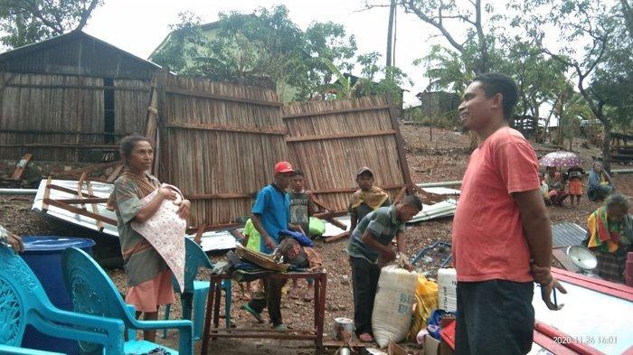 Sejumlah Rumah di TTU Rusak Diterpa Angin Puting Beliung