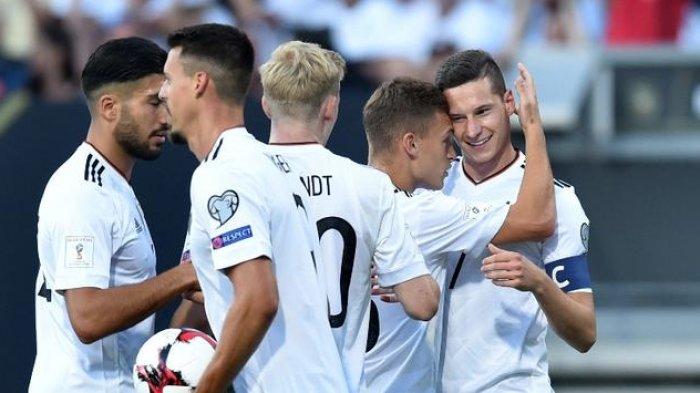 Selebrasi Timnas Jerman Setelah Mencetak Gol