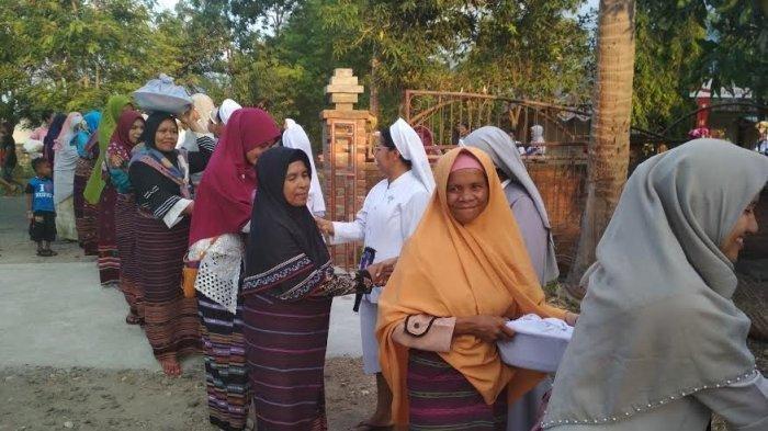 Pekikan Shalawat Pemuda Muslim Warnai Pembukaan Pesparani Katolik di Lembata