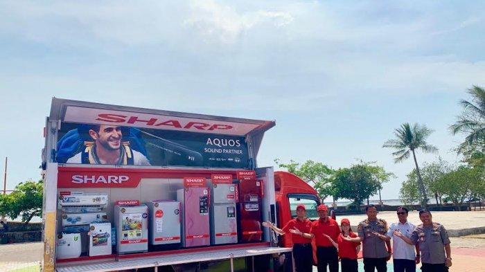 Serentak, Sharp Indonesia luncurkan Lima Unit Sharp 50 Years Mobile Display Truck Keliling Nusantara