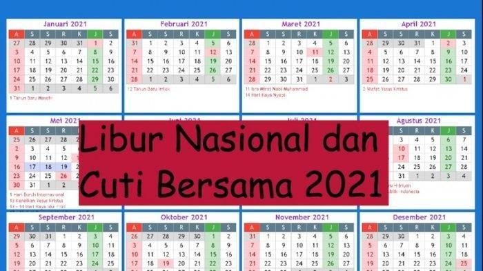 LENGKAP Perubahan Cuti Bersama Desember 2020, Dikurangi Jadi 2 Hari Saja, Cek Tanggal Cuti Bersama