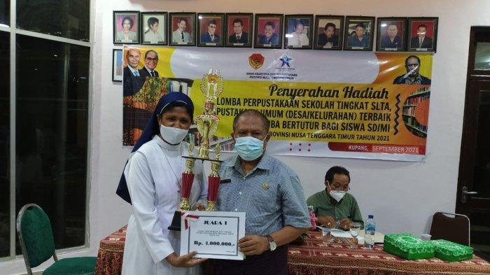 Juara Pertama Lomba Perpustakaan Tahun 2021, SMAK Bhaktyarsa Maumere Wakili NTT ke Nasional