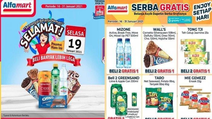 PROMO ALFAMART Selasa 19 Januari 2021, Ada Serba Gratis dan Diskon Spesial Susu hingga Snack Hemat