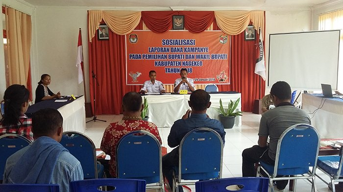 KPU Nagekeo Sosialisasi Dana Kampanye, Ini yang Terjadi Jika Lampaui Plafon yang Ditentukan