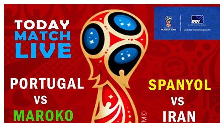 LIVE Trans TV Spanyol vs Iran di Grup B Piala Dunia 2018 Pukul 01.00 WIB Malam Ini