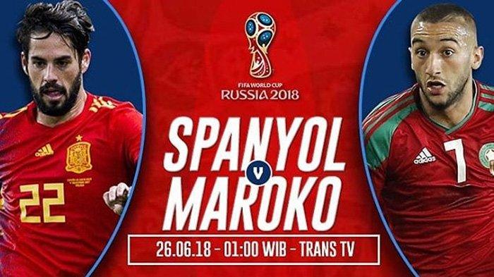 LIVE Trans TV Pukul 01.00 WIB Malam Ini, Spanyol vs Maroko, Hierro: Harus Kalahkan Semua Orang