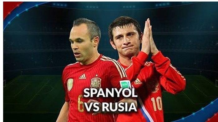 LIVE Trans TV Pukul 21.00 WIB, Inilah Susunan Pemain Spanyol vs Rusia Malam Ini