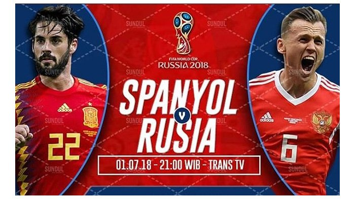 LIVE Trans TV Pukul 21.00 WIB, Begini Cara Menonton Live Streaming Spanyol vs Rusia