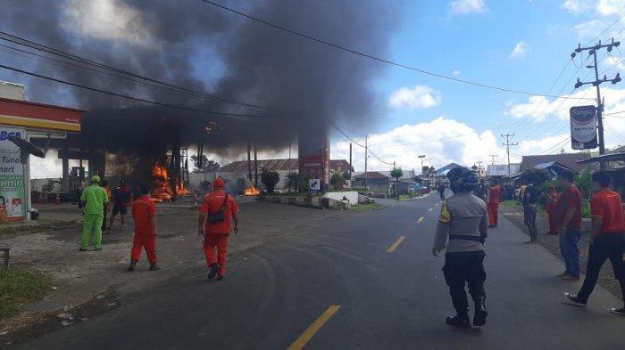 Ini Dugaan Sementara Jadi Sumber Penyebab Kebakaran SPBU Mena Ruteng Kabupaten Manggarai