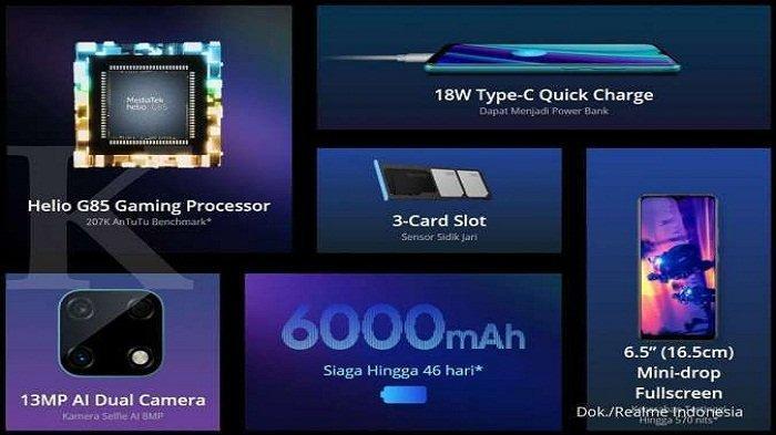Spesifikasi HP Realme Narzo 30A Cocok Untuk Gamers, Harganya Rp 1,8 Jutaan