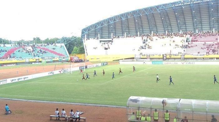 Pertandingan perdana Sriwijaya FC saat mengalahkan PSIM 2-1 kompetisi Liga 2 di Stadion Gelora Sriwijaya Jakabaring, 15 Februari 2020 lalu.
