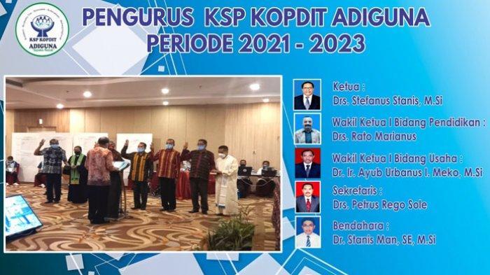 Stefanus Stanis Ketua Pengurus, Maria Ketua Pengawas Kopdit Adiguna