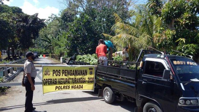 Posko Covid-19 Perbatasan Maumbawa Dijaga 24 Jam, Warga & Kendaraan Tidak Diperbolehkan Masuk