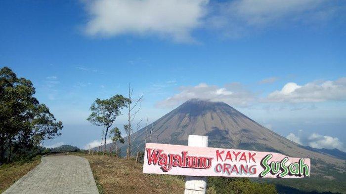 TRIBUN WIKKI : Menikmati Pesona Gunung Inerie Dari Puncak Bukit Wolobobo di Ngada