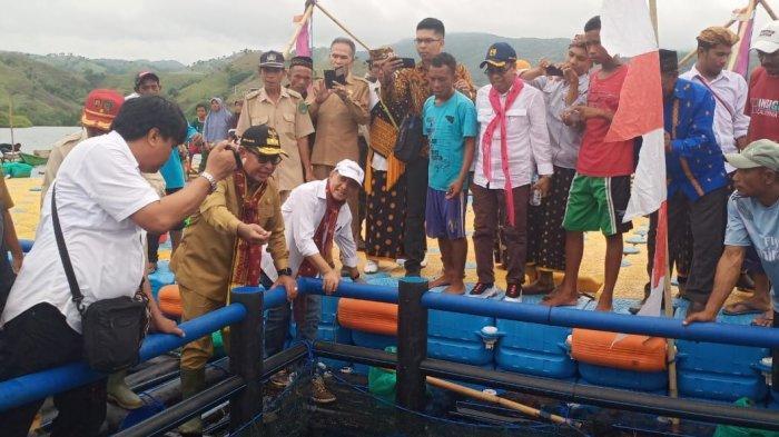 Wakil Gubernur NTT Lepas Bibit Ikan Kerapu di Riung Ngada, Berikut Liputannya!