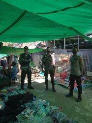 Tegakan Disiplin Prokes di Pasar Tradisional Bari, Ini yang Dilakukan Polsek Macang Pacar Mabar