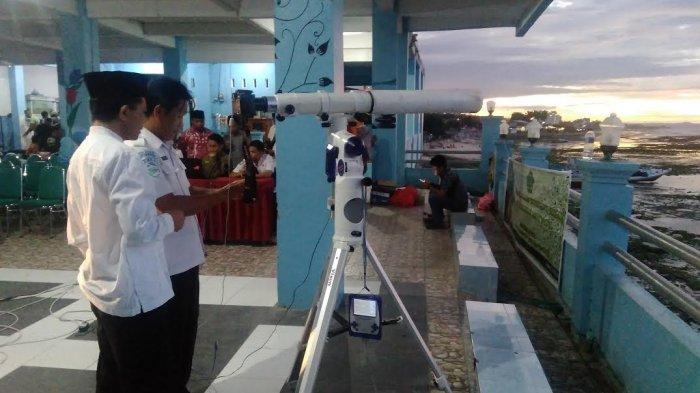 Pengamatan Hilal 1 Ramadhan 1440 H di Kupang, Persentase Keterlihatan Kecil