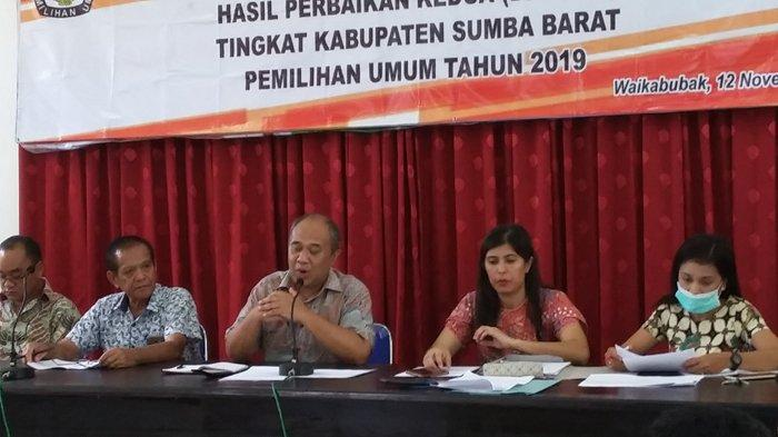 DPT Legislatif dan Pilpres Sumba Barat Naik Menjadi 79.398 Pemilih