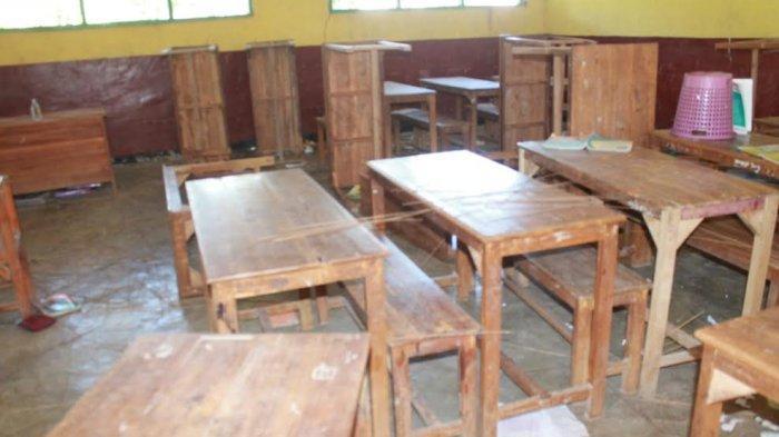 Sejumlah Ruang Kelas Diobrak-Abrik OTK, Ratusan Siswa Terpaksa Diliburkan