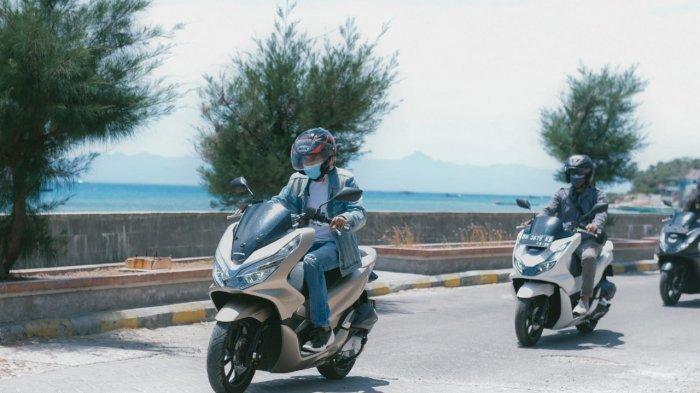 Sunday Morning Ride, Konsumen Honda PCX Kupang Gelar Bakti Sosial