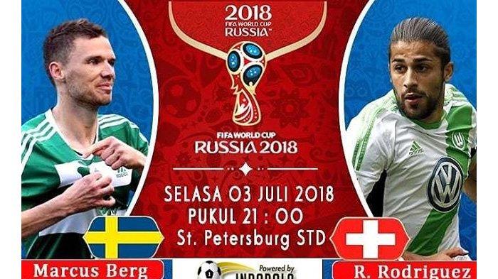 LIVE Trans TV Pukul 21.00 WIB, Inilah Susunan Pemain Swedia vs Swiss di Babak 16 Besar